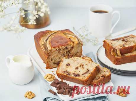 Банановый хлеб с грецкими орехами и шоколадом | Новости, обзоры, акции в интернет-магазине TOP SHOP
