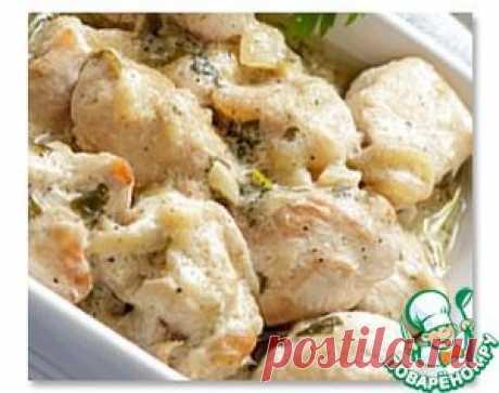 Тушеная курица с галушками - кулинарный рецепт
