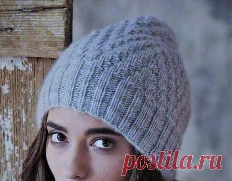 Модные шапки бини: 3 варианта несложными узорами | Идеи рукоделия | Яндекс Дзен