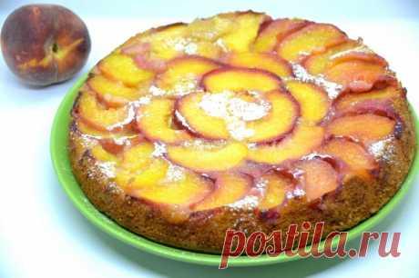 Пирог с персиками от Юлии Высоцкой - пошаговый рецепт с фото на Повар.ру