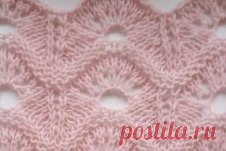 Несколько красивых волнистых узоров для ваших моделей спицами | Тепло о вязании | Яндекс Дзен