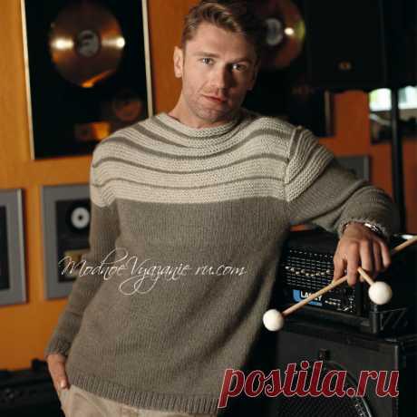 Модный мужской джемпер из кашемира - Modnoe Vyazanie ru.com