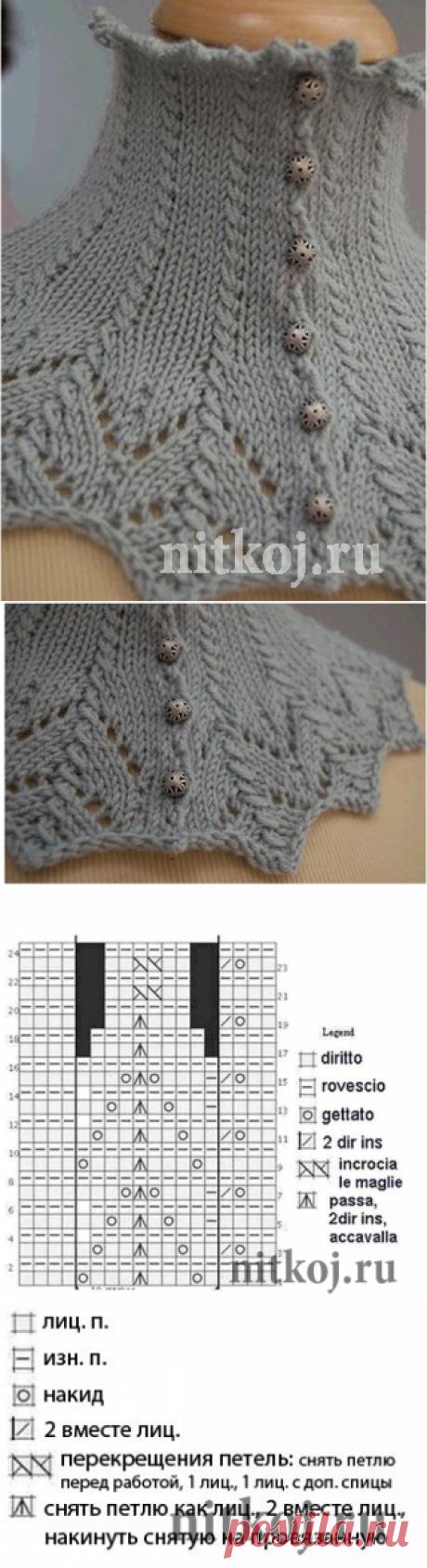 Воротник спицами » Ниткой - вязаные вещи для вашего дома, вязание крючком, вязание спицами, схемы вязания