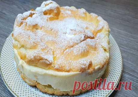 Большой эклер - фантастически вкусный пирог