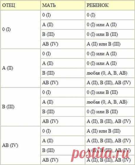 Как определить, какая группа крови может быть у ребенка — Полезные советы