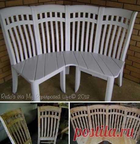 Попробуйте тоже сделать из старых стульев