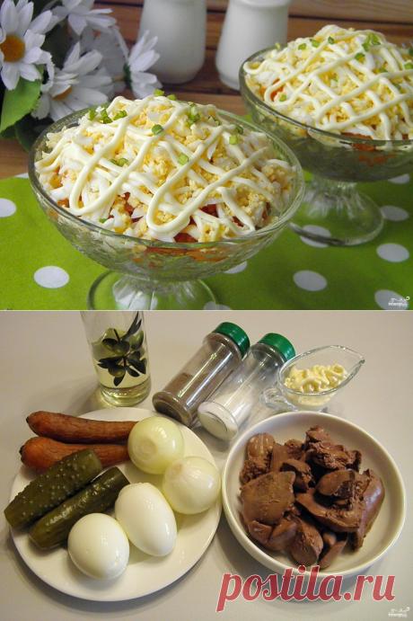 Салат с куриной печенью - пошаговый рецепт с фото на Повар.ру