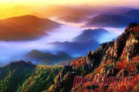 Туман в горах, Чолла-Пукто, Южная Корея