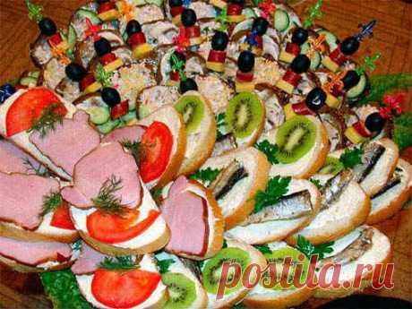 Бутерброды на праздничный стол - рецепты с фото