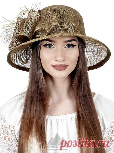 Шляпа Элиза - Женские шапки - Из соломки купить по цене 3290 р. с доставкой в Интернет магазине Пильников