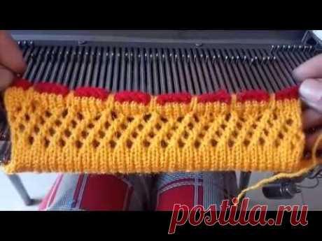 डिज़ाइनर स्वेटर सिंगल बॉर्डर 0010 मशीन से कैसे बनाए इन हिंदी | Single Sweater Border