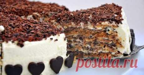 Орехово-шоколадный торт из Италии