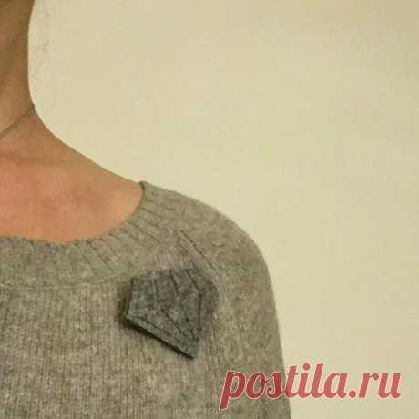 Зимний бриллиант: брошь своими руками (diy) Модная одежда и дизайн интерьера своими руками