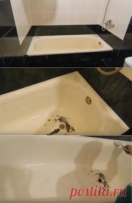 La instrucción poshagovaya de la restauración del baño líquido akrilom