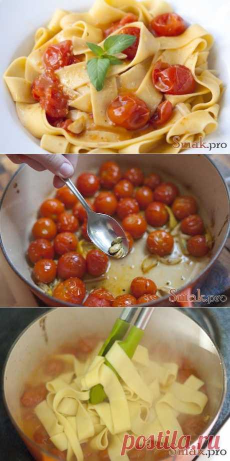 Макароны с кардамоном и жаренными помидорами рецепт с фото