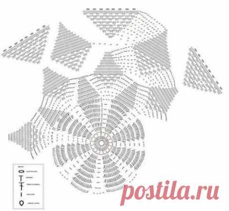 Красивая салфетка крючком из категории Интересные идеи – Вязаные идеи, идеи для вязания