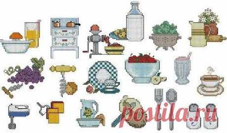 #схемы_вышивки_кухня #схемы_вышивки_миниатюры