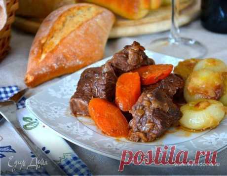 Пост закончился, и я предлагаю вам побаловать себя этим вкусным и сочным мясным блюдом! На сайте уже есть похожие рецепты Мяса по-бургундски... Потому что Бёф бургиньон (фр. bœuf bourguignon) э...