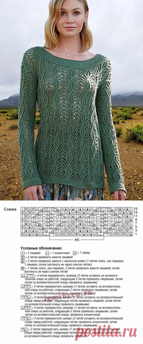 Ажурные летние пуловеры и кофточки   Волшебные спицы   Яндекс Дзен