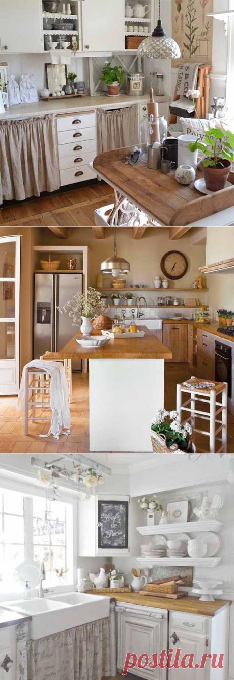 Кухни Прованс: уютные детали деревенского стиля