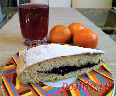 Пирог с вареньем на скорую руку | Поделки, рукоделки, рецепты | Яндекс Дзен