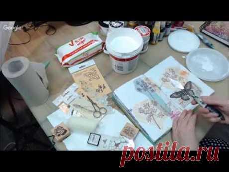 Как использовать грунт Гессо Gesso в Микс Медиа Mixed Media Art: видео урок Натальи Жуковой