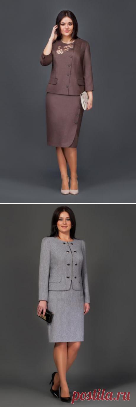 Костюмы для полных женщин белорусской компании Lissana, осень-зима 2016-2017 (75 фото)