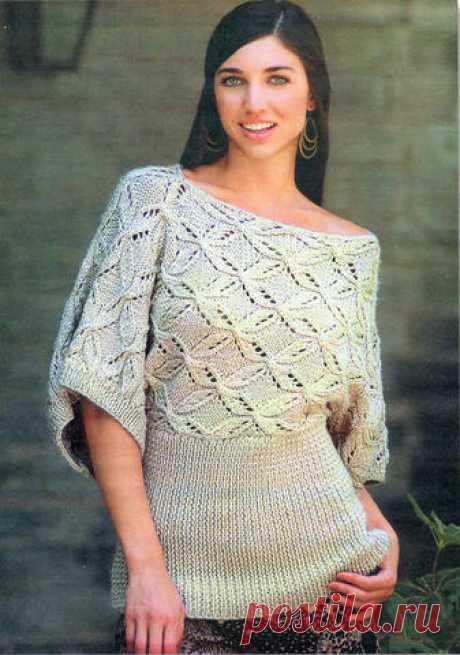 Пуловер ажурный | Вязание и рукоделие
