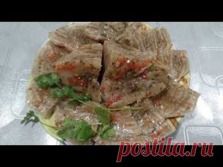 Деликатес из свиных шкурок! Вкусно, дёшево и сердито! Сьедается моментально! Вьетнамская кухня.