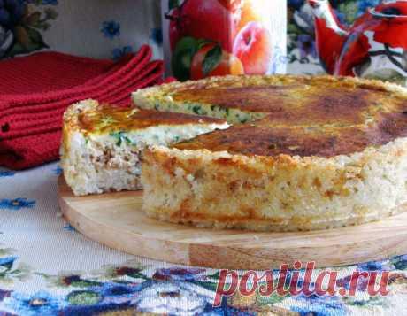 Сырный пирог из лосося.
