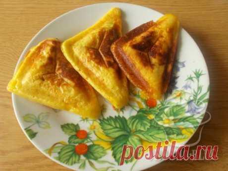 Дрожжевые блинчики в бутерброднице - рецепт с фото
