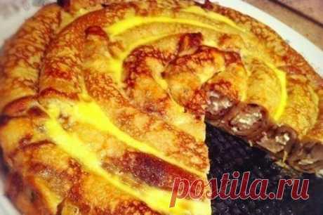 Блинные рулеты с творожно-банановой начинкой и цукатами — Sloosh – кулинарные рецепты