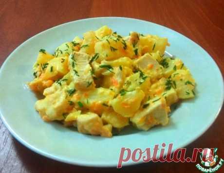 Картофель с курицей в сырном соусе – кулинарный рецепт