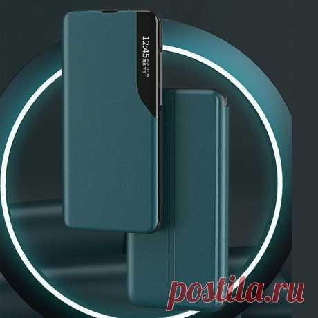 Bakeey Magnetic Flip Smart Sleep Window View Shockproof PU Leather Full Cover Pr - US$9.79
