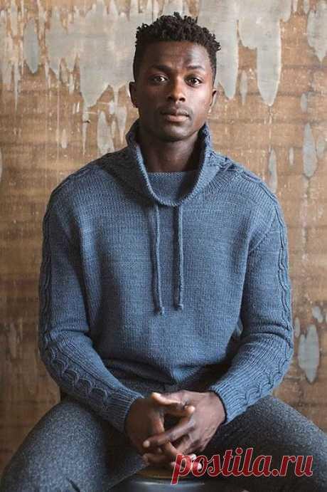Мужской свитер. Спицы.