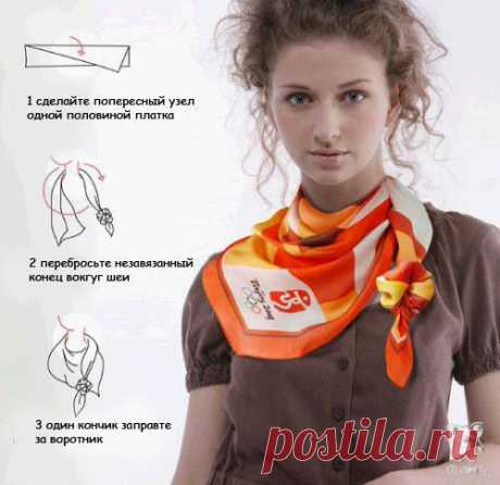 Подборка идей с шарфами и платками. На заметку.