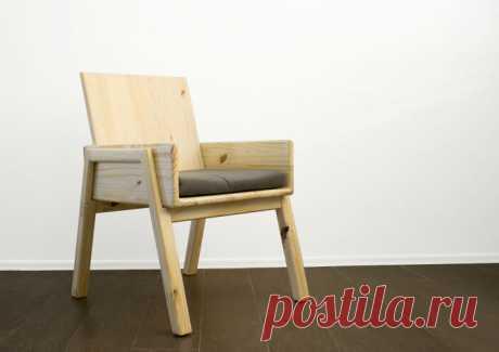 Удобное кресло из сосновых ступеней | JustMade - HandMade | Яндекс Дзен