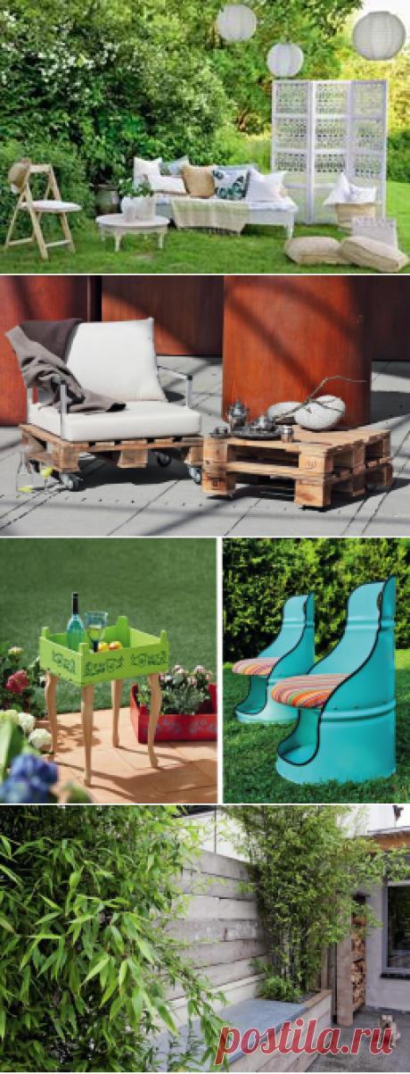 Мебельные фантазии: необычные предметы садовой обстановки своими руками