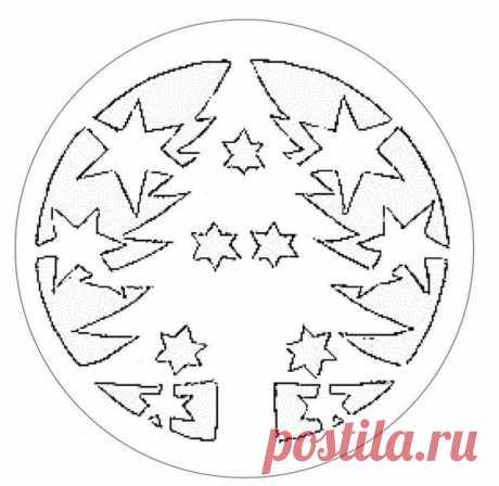 Adornamiento de Año Nuevo de las ventanas (los patrones tamaño natural)   Julialime   Yandeks Dzen