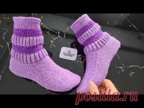 Пришла долгожданная модель !!! Вязание женских пинеток выкройки носков