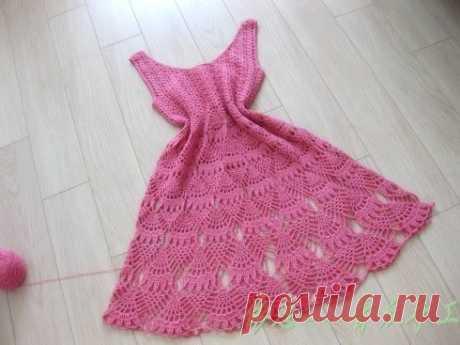 Милое летнее платье крючком из категории Интересные идеи – Вязаные идеи, идеи для вязания