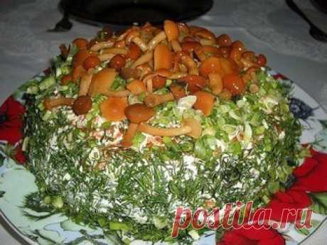 ТОП-7 РЕЦЕПТОВ САЛАТОВ С ГРИБАМИ  1. Салат из овощей с солеными грибами  ИНГРЕДИЕНТЫ: Показать полностью…