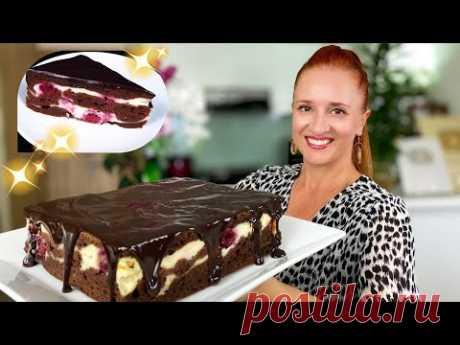 Быстрый Шоколадный Торт пирог МРАМОРНЫЙ с творогом Вкусно и красиво Люда Изи Кук торт chocolate cake