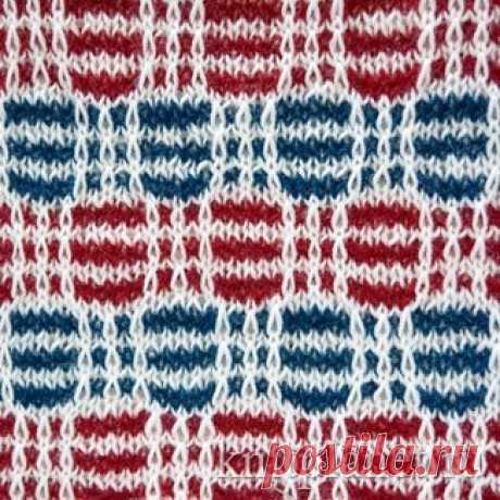 Planet of Knitting | Multi-color pattern No. 3. Scheme of knitting of a pattern spokes.