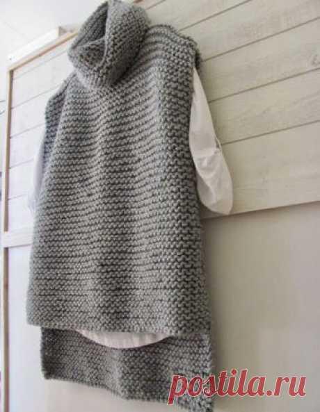 Вязаный жилет с выкройкой Модная одежда и дизайн интерьера своими руками