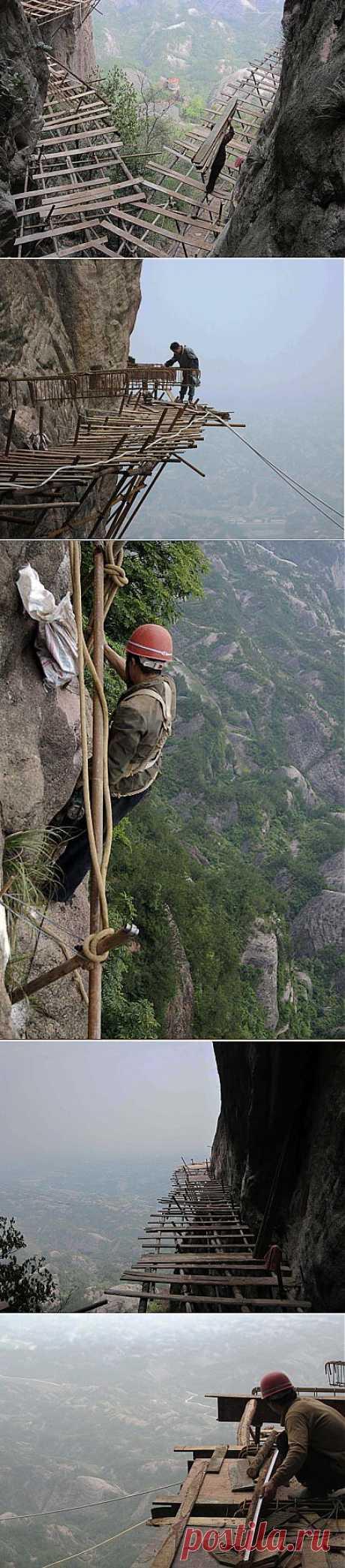 Дорога вокруг горы Шифу в Китае | Наука и техника