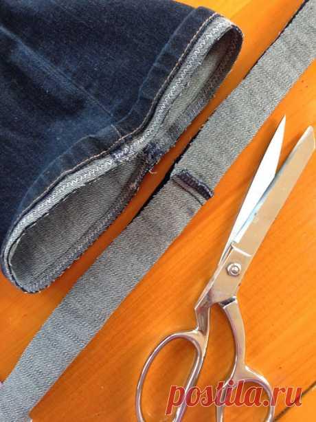 Как укоротить джинсы и сохранить фабричный шов: мастер-класс