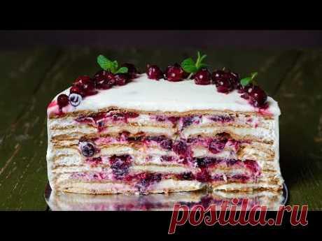 Шифоновый Медовик со смородиной :  Chiffon Honey Cake with Berries : Самый вкусный Медовик с ягодами