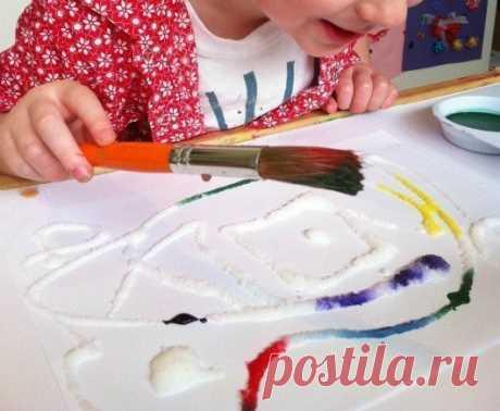 Рисуем солью. Увлекательное занятие для детей. » Женский Мир