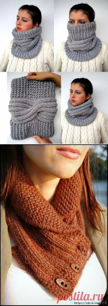 Grey Tour Fashion Cowl Super Soft Wool Neckwarmer by GiuliaKnit   Вязаные шапки, снуды